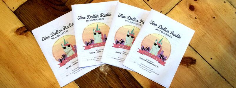 Two Dollar Radio Headquarters vegan food menus
